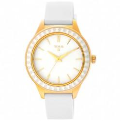 Reloj Straight Ceramic de acero IP dorado