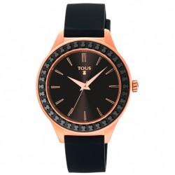 Reloj Straight Ceramic de acero IP rosado