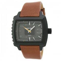 Reloj Diesel de cuero marrón