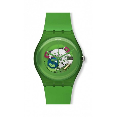 Reloj Unisex Swatch Green Lacquered SUOG103
